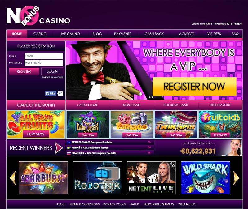 No Bonus Casino screenshot